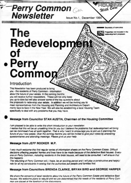 PCH/5/44 – Perry Common Newsletter Supplement relating to